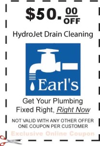 $50 off hydrojet drain clean